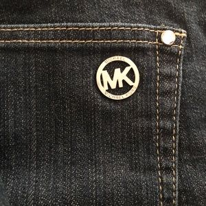 Michael Kors Dark Wash Straight Leg Jeans-sz 8